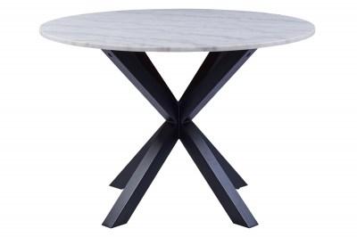 Kulatý jídelní stůl Neel 110 cm mramor