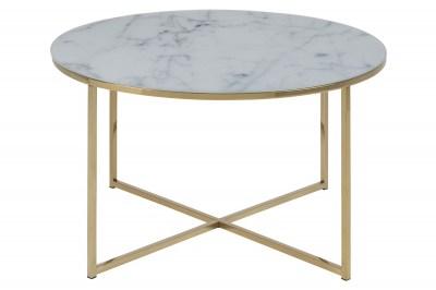 Kulatý konferenční stolek Agostino zlatá chromová