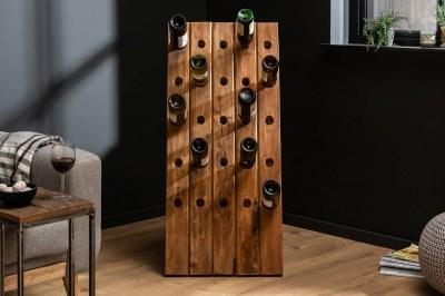 Regál na víno Lyric 107 cm recyklované dřevo