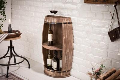 Regál na víno Winebar 79 cm přírodní