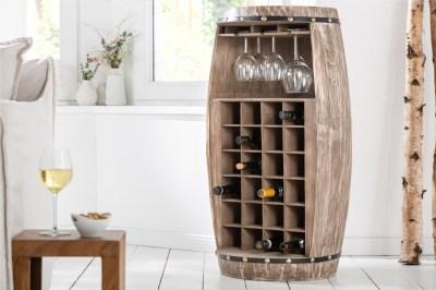 Regál na víno Winebar 97 cm přírodní