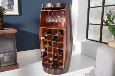 Regál na víno Winebar 97 cm hnědý