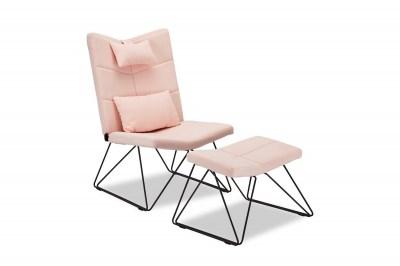 Relaxační křeslo Abbott, růžové