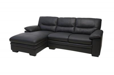 Rohová sedačka Abelard - černá levá