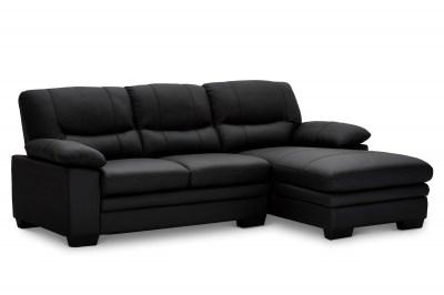 Rohová sedačka Abelard - černá pravá