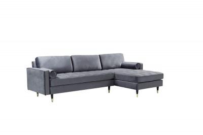 Rohová sedačka Adan II 260 cm šedý samet