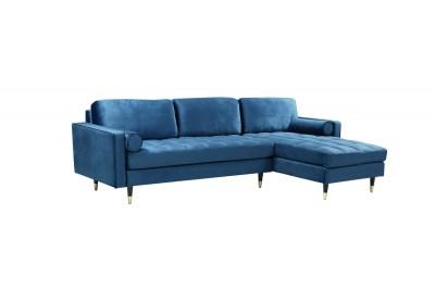 Rohová sedačka Adan II 260 cm tmavě modrý samet