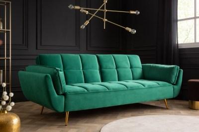 Rozkládací sedačka Bailey 213 cm smaradgová zelená