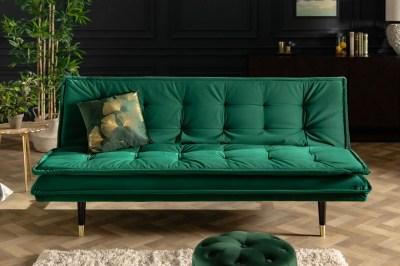 Rozkládací sedačka Clark 184 cm smaragdově zelená