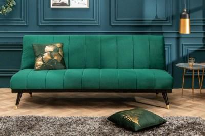 Rozkládací sedačka Halle 180 cm smaragdově zelená