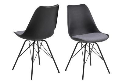 Designová židle Nasia bílá / šedá
