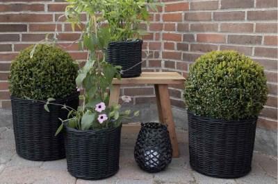 Sada dekorativních košíků Skylar černá