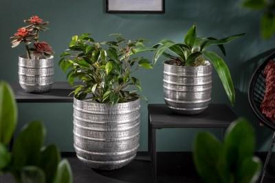 Sada designových květináčů Malia stříbrná