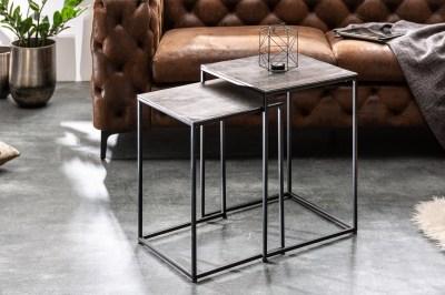 Set 2 konferenčních stolků Factor stříbrný