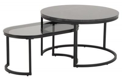 Set oválných konferenčních stolků Gerald černý