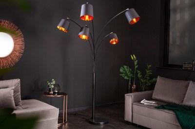 Stojanová lampa Shadow 202 cm černá - zlatá