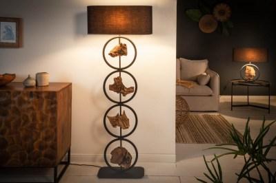 Stojanová lampa Factor 147 cm černá - akácie