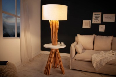 Stojanová lampa Kash 153 cm náplavové dřevo