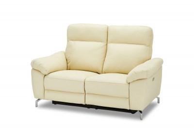 Stylová 2-místná sedačka Abeeku, krémová