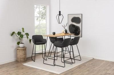 Stylová barová židle Alcide tmavě šedá