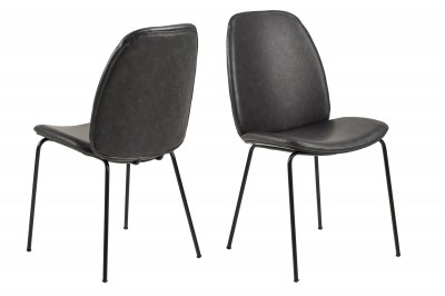 Stylová jídelní židle Aldrich černá