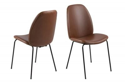 Stylová jídelní židle Aldrich koňaková