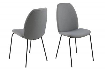 Stylová jídelní židle Aldrich světlešedá