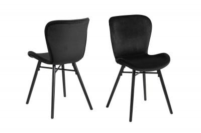 Stylová jídelní židle Alejo černá