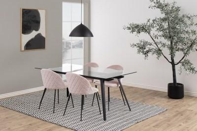 Stylová jídelní židle Alexandre světle růžová