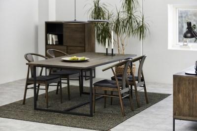 Stylová jídelní židle Alioth tmavý dub
