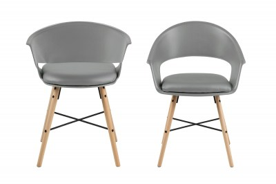 Stylová židle Alben šedá