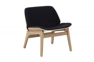 Stylová židle Allie černá / přírodní