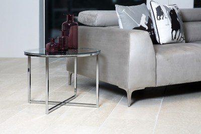 Stylový konferenční stolek Aimilios černá / chromová