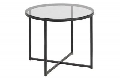 Stylový konferenční stolek Aimilios kouřová / černá