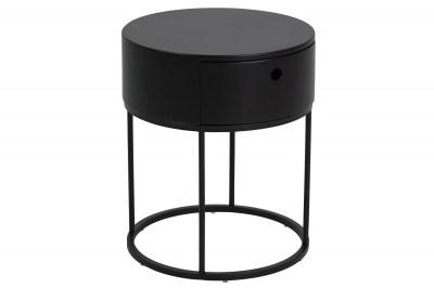 Stylový noční stolek Ariel oválný černý
