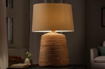 Ratanová stolní lampa Terrell 82 cm přírodní - béžová