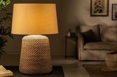 Ratanová stolní lampa Terrell 96 cm šedá - béžová