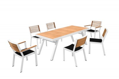Zahradní jídelní sestava HIGOLD II - York Dining White/Black