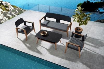 Zahradní sestava HIGOLD - Sheldon Lounge Black Olefin