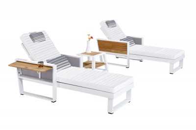 Zahradní sestava HIGOLD - York Sunlounge Set White/White Olefin