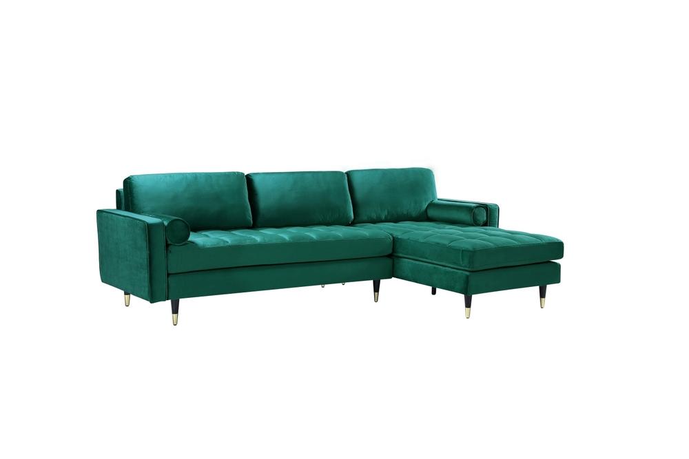 Rohová sedačka Adan II 260 cm smaragdově zelený samet