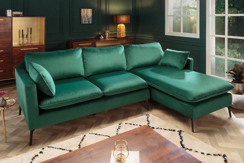 Rohová sedačka Lena 260 cm smaragdový samet