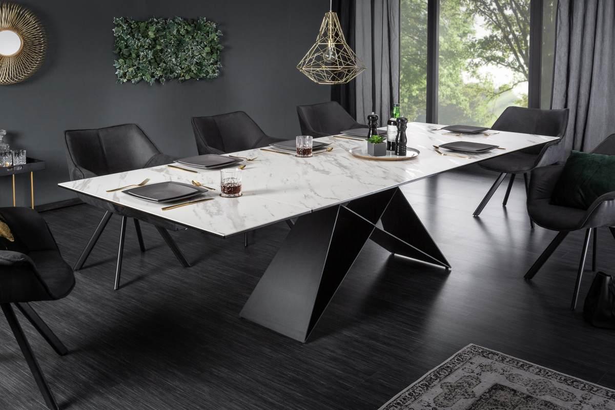 Rozkládací jídelní stůl Brock mramor 180-260 cm