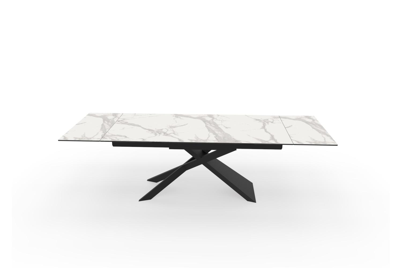 Roztahovací keramický stůl Natasha 180-220-260 cm šedý