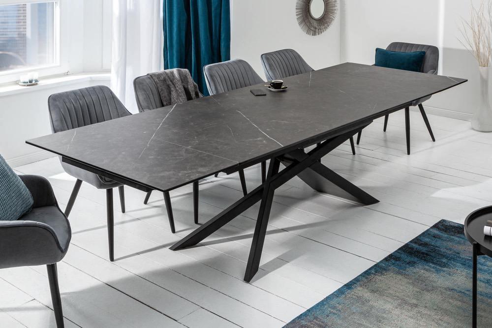 Roztahovací keramický stůl Natasha 180-220-260 cm grafit