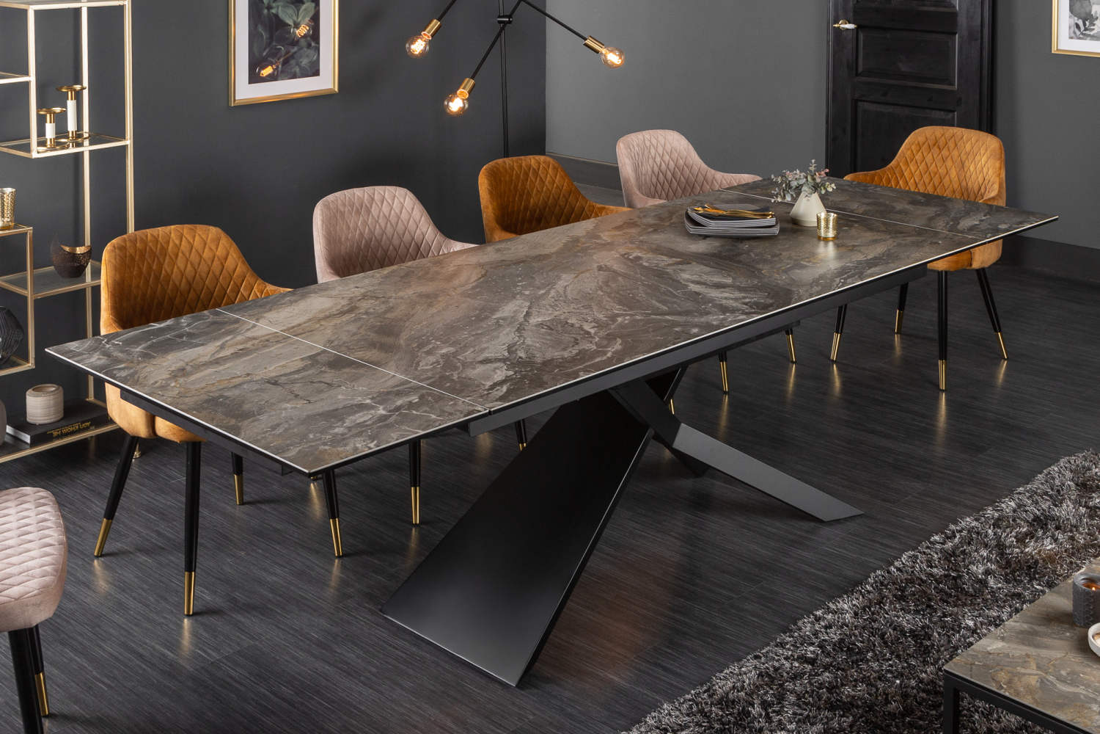 Roztahovací keramický stůl Natasha 180-220-260 cm mramor