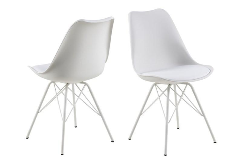 Designová židle Nasia bílá