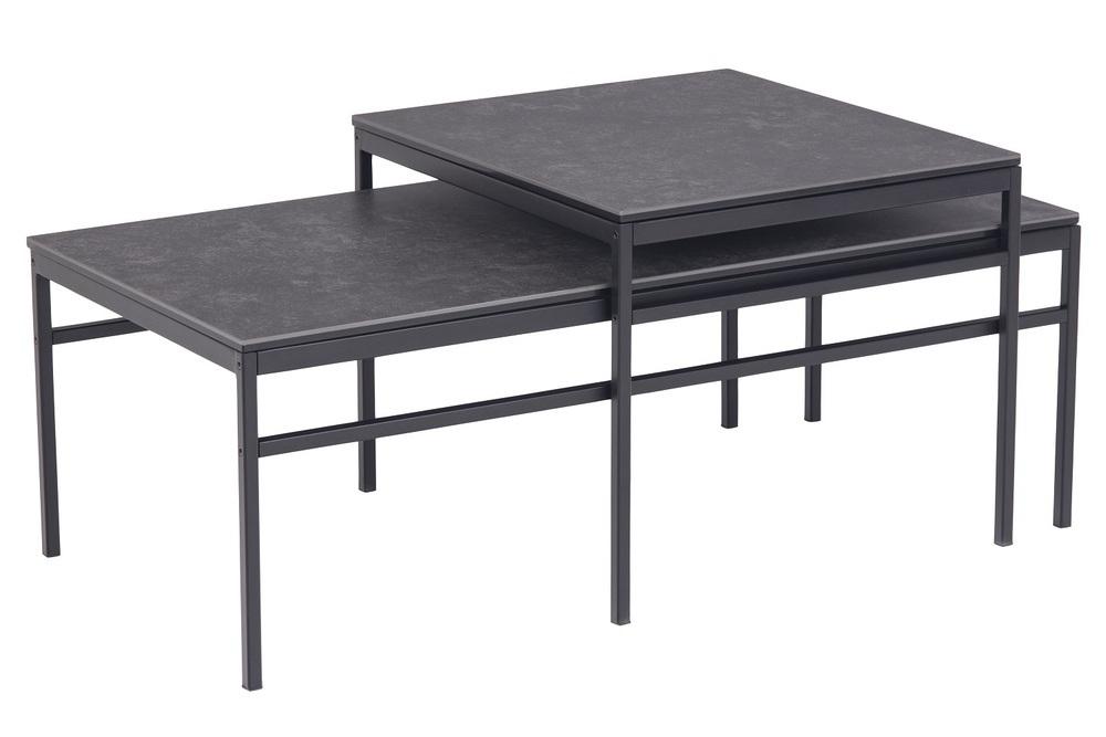 Set 2 konferenčních stolků Damonica černý
