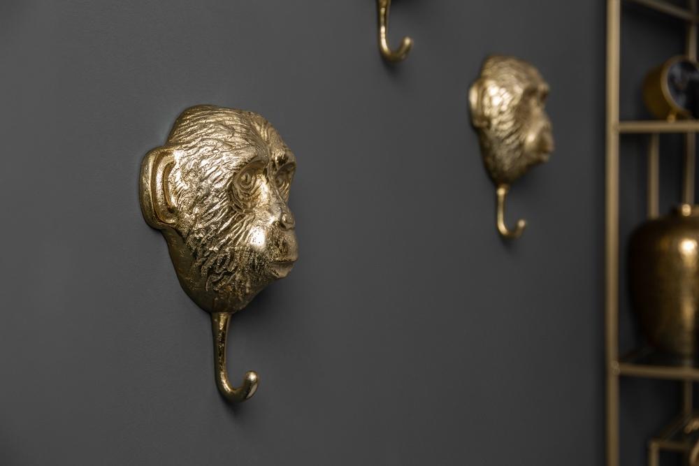 Set 3 háčků na stěnu Adilet zlatý