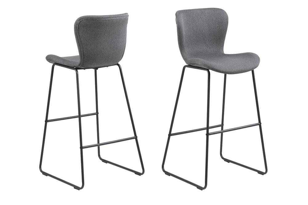 Stylová barová židle Alejo tmavě šedá